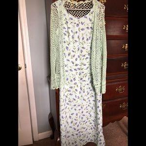 R&K Originals Full Length Floral Dress